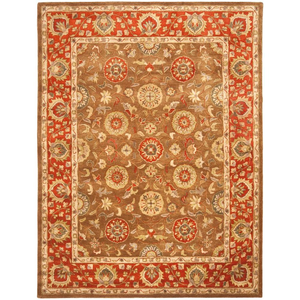 Heritage Beige/Rust 8 ft. 3 in. x 11 ft. Area Rug