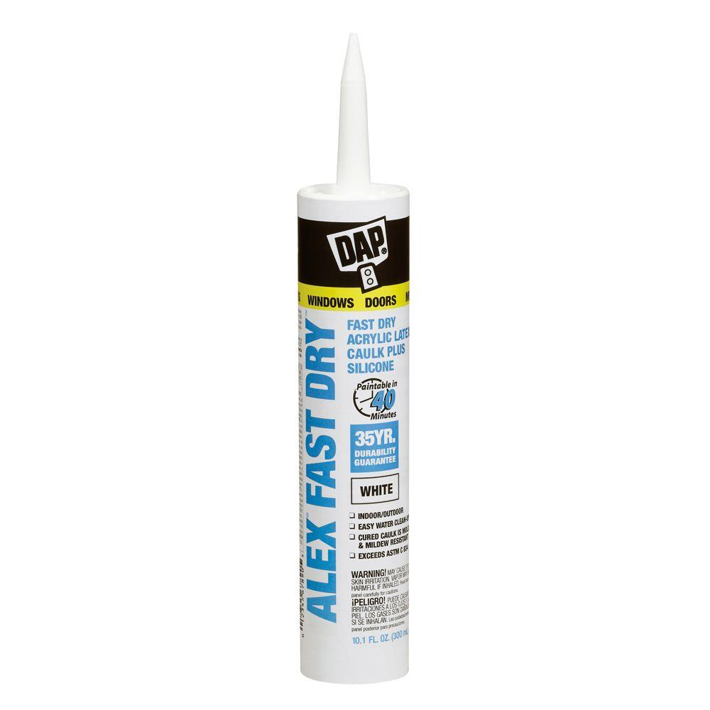 ALEX Fast Dry 10.1 oz. Acrylic Latex Plus Silicone Caulk (1,296