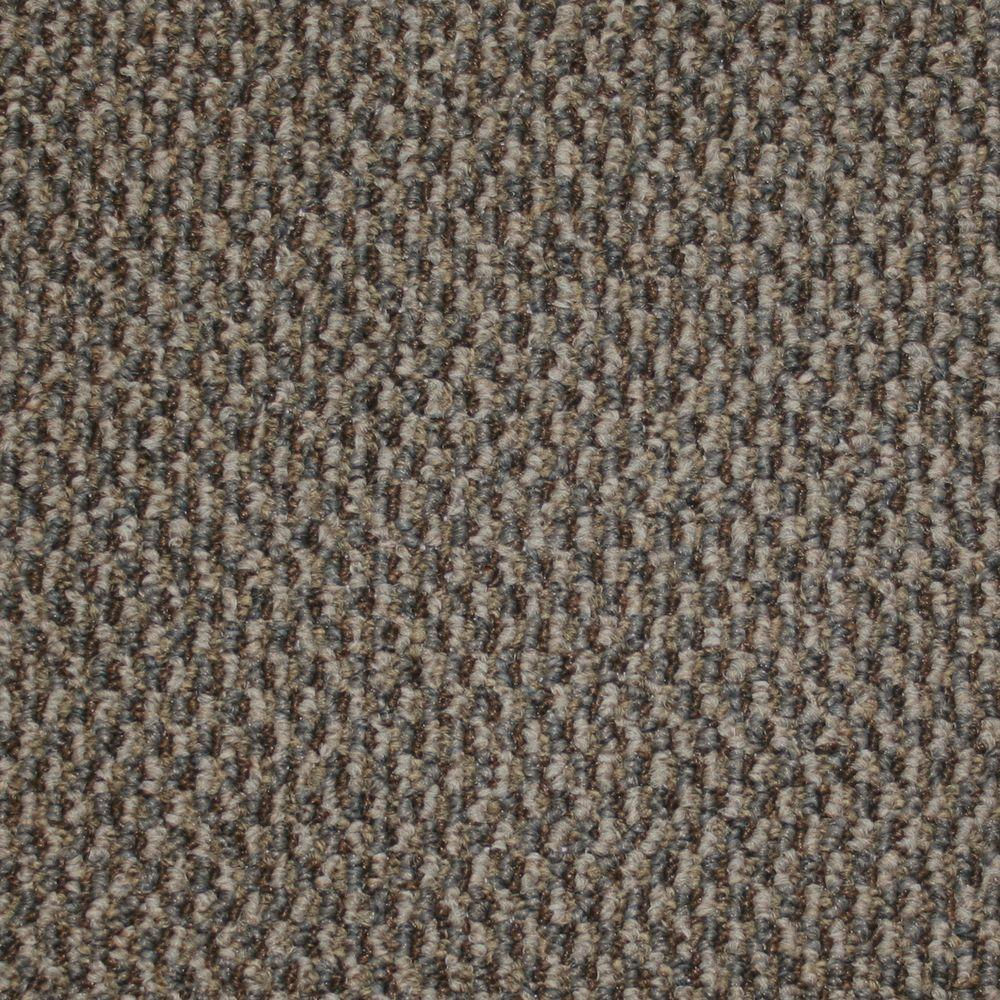 TrafficMASTER Skill Set - Color Cerulean Berber 12 ft. Carpet