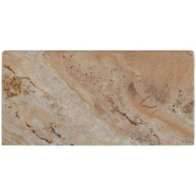 Porcini 12 in. x 24 in. Brushed Travertine Pool Coping (15 Piece / 30 Sq. ft. / Pallet)