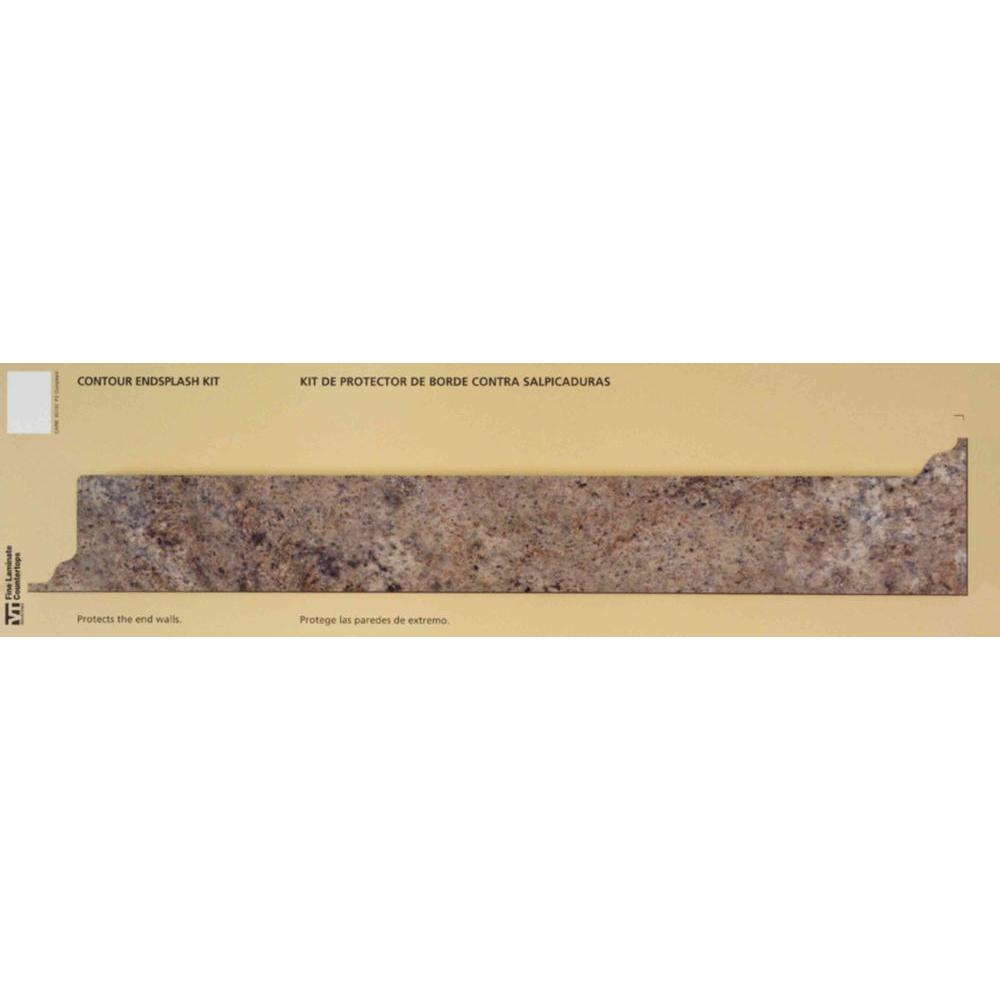 Hampton Bay 4-1/4 in. x 25-13/16 in. Valencia Laminate Countertop Reversible Contoured End Splash Kit in Madura Garnet