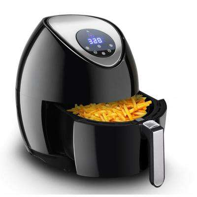 3.4Qt. 1400-Watt Oil Free Electric Air Fryer Temperature and Time Control