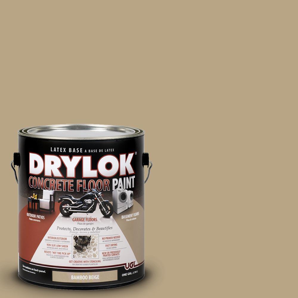 DRYLOK 1 gal. Bamboo Beige Latex Concrete Floor Paint