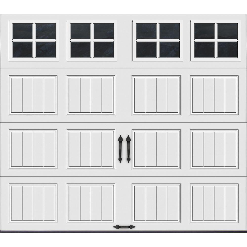 Clopay Gallery Collection 8 ft. x 7 ft. 6.5 R-Value Insulated White Garage Door with SQ22 Window