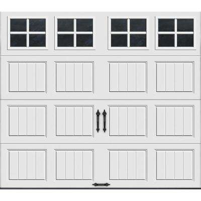 Gallery Collection 8 ft. x 7 ft. 6.5 R-Value Insulated White Garage Door with SQ22 Window