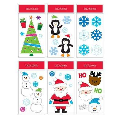 6 in. W x 12 in. H Christmas Gel Cling