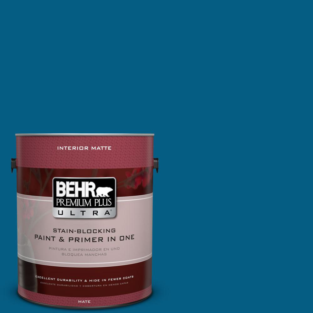 BEHR Premium Plus Ultra 1 gal. #S-H-550 Sapphire Sparkle Flat/Matte Interior Paint