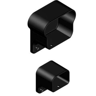 Aluminum Black Fine Textured Level Rail Bracket Kit (2-Piece)
