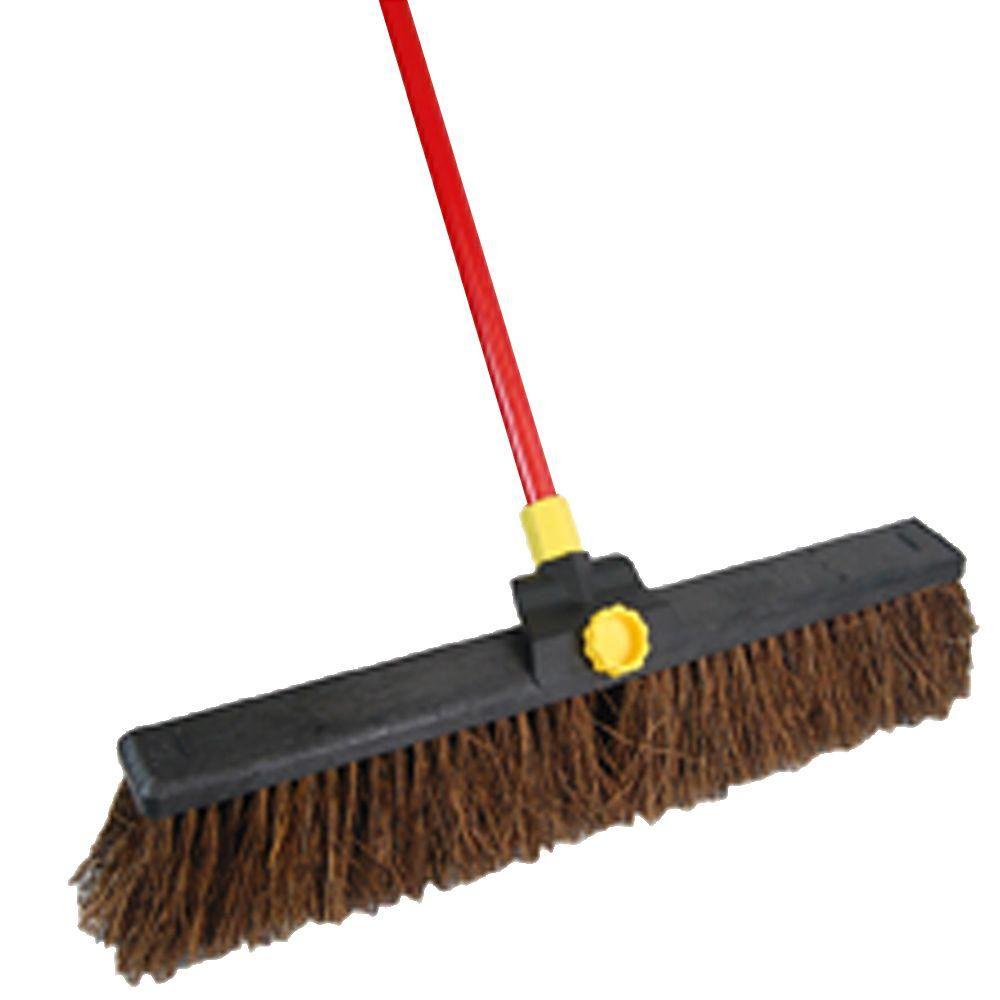 Quickies Bulldozer 24 in. Palmyra Push Broom, Black