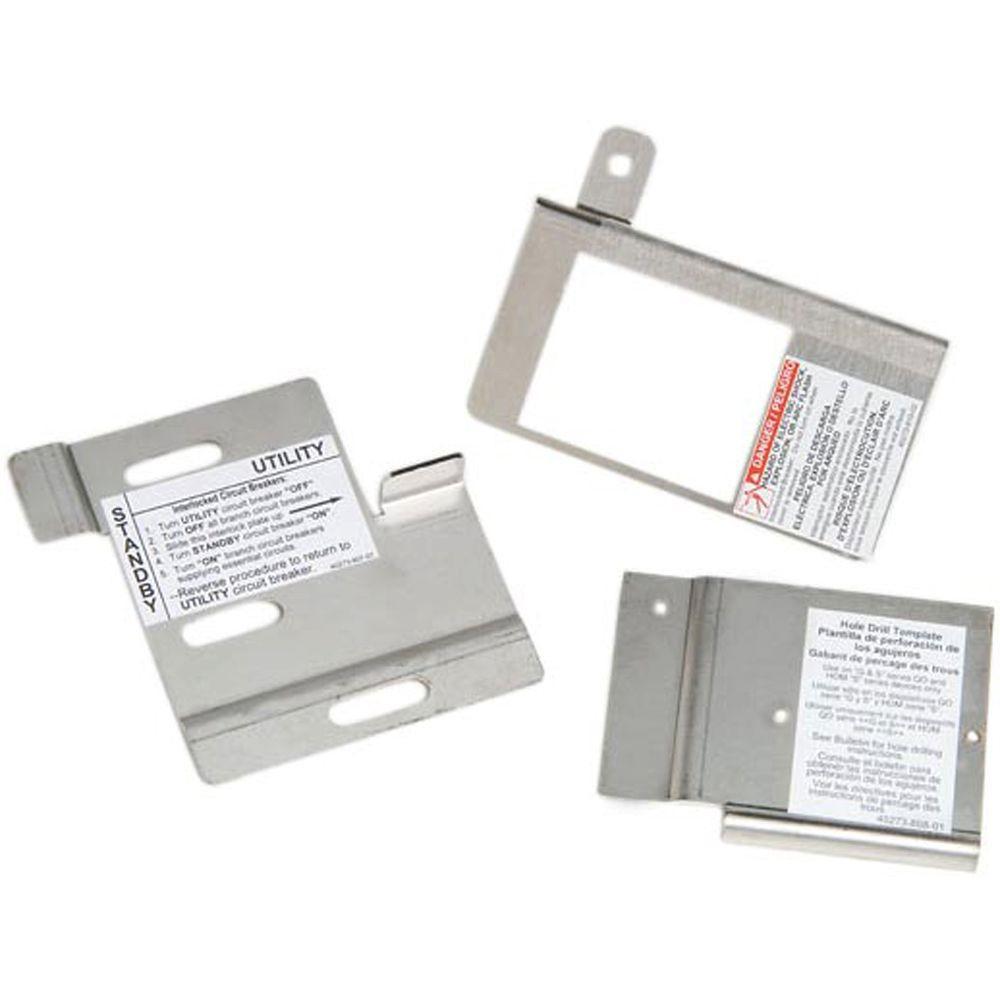 Homeline 100 Amp Load Center Indoor or Outdoor Generator Interlock Kit
