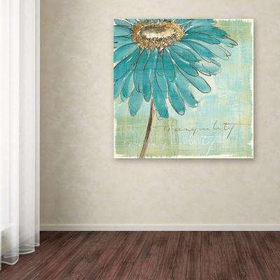 """18 in. x 18 in. """"Spa Daisies III"""" by Chris Paschke Printed Canvas Wall Art"""