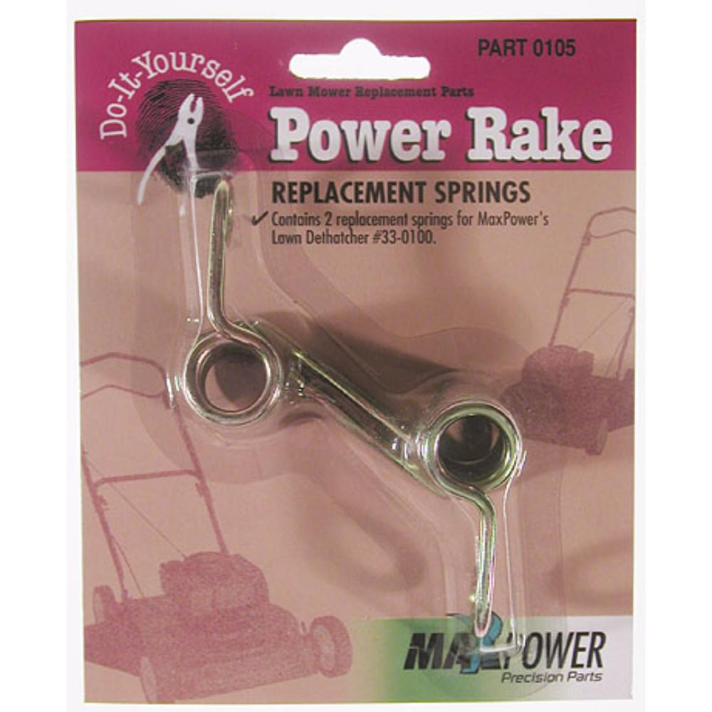 Maxpower Power Rake Replacement Springs (Pack of 2)