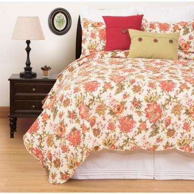 Alyssa Red Full/Queen Quilt Set