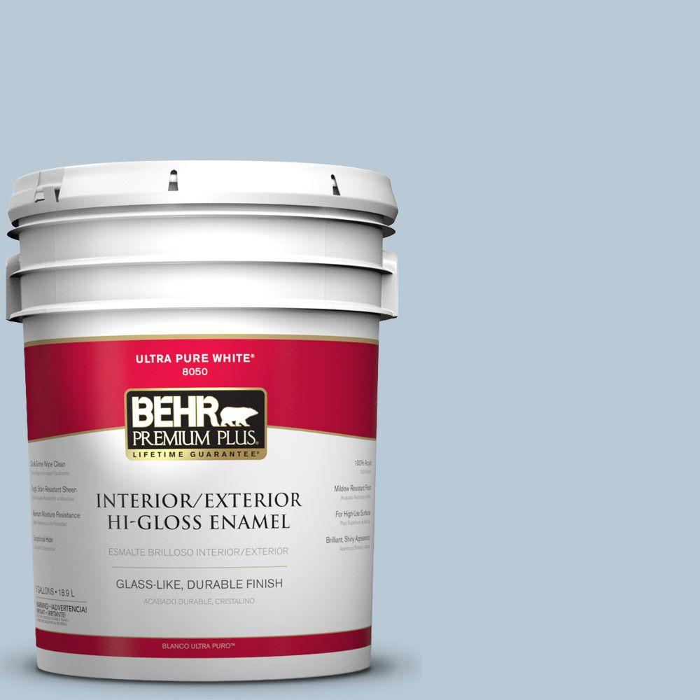 BEHR Premium Plus 5-gal. #S520-2 Journey's End Hi-Gloss Enamel Interior/Exterior Paint