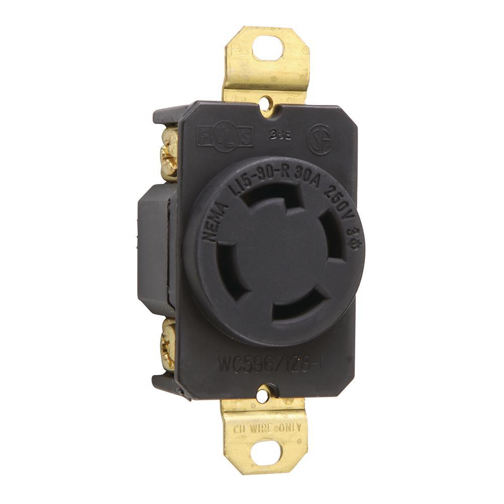 Pass & Seymour Turnlok 30 Amp 250-Volt NEMA L15-30R Locking Receptacle
