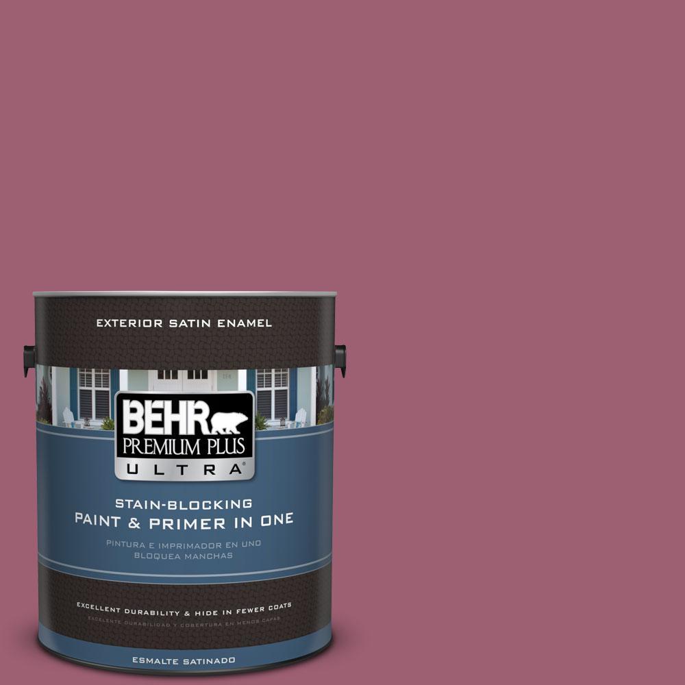 BEHR Premium Plus Ultra 1-gal. #M130-6 Tropical Hibiscus Satin Enamel Exterior Paint
