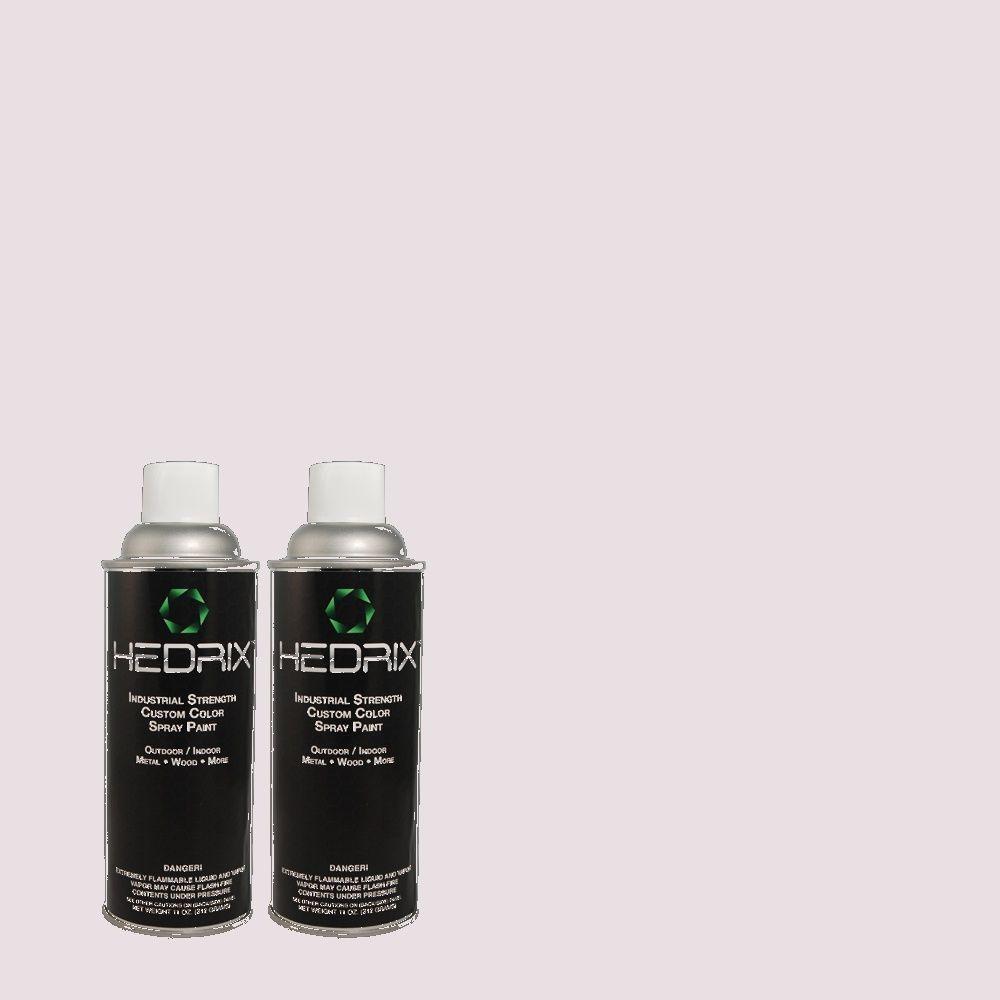 Hedrix 11 oz. Match of 2B36-1 Lavender Tint Semi-Gloss Custom Spray Paint (2-Pack)