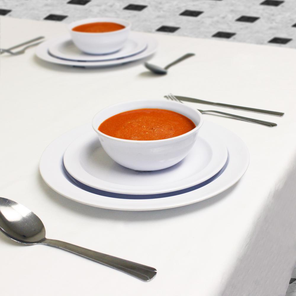 Restaurant Essentials Nustone 12-Piece White Dinnerware Set & Restaurant Essentials Nustone 12-Piece White Dinnerware Set-RA010 ...