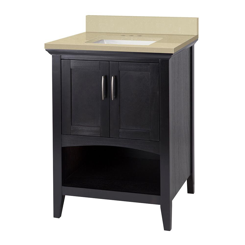 Home Decorators Collection Brattleby 25 In W X 22 In D Vanity In Espresso With Engineered
