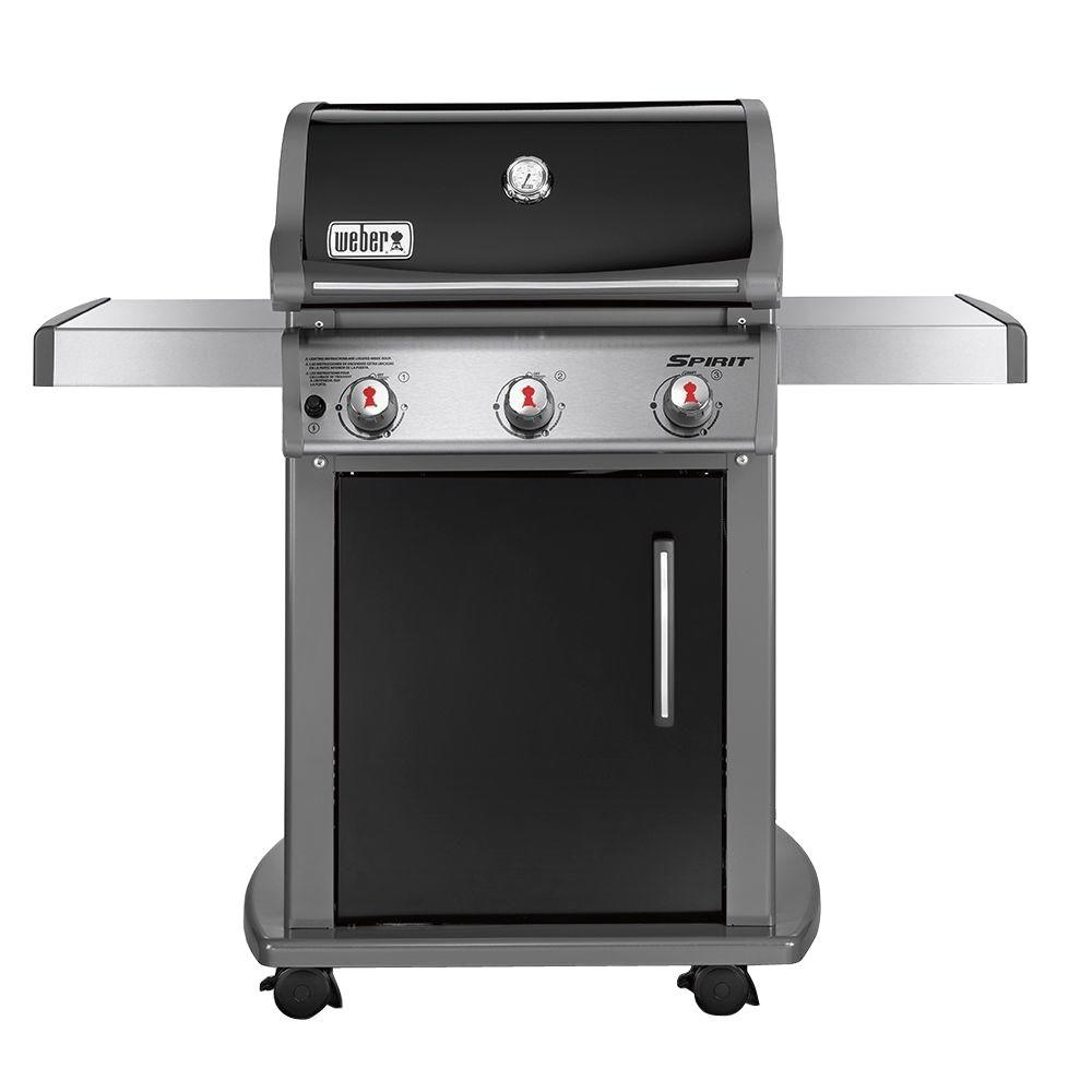 Weber Spirit E-310 3-Burner Natural Gas Grill in Black with Built-In Thermometer
