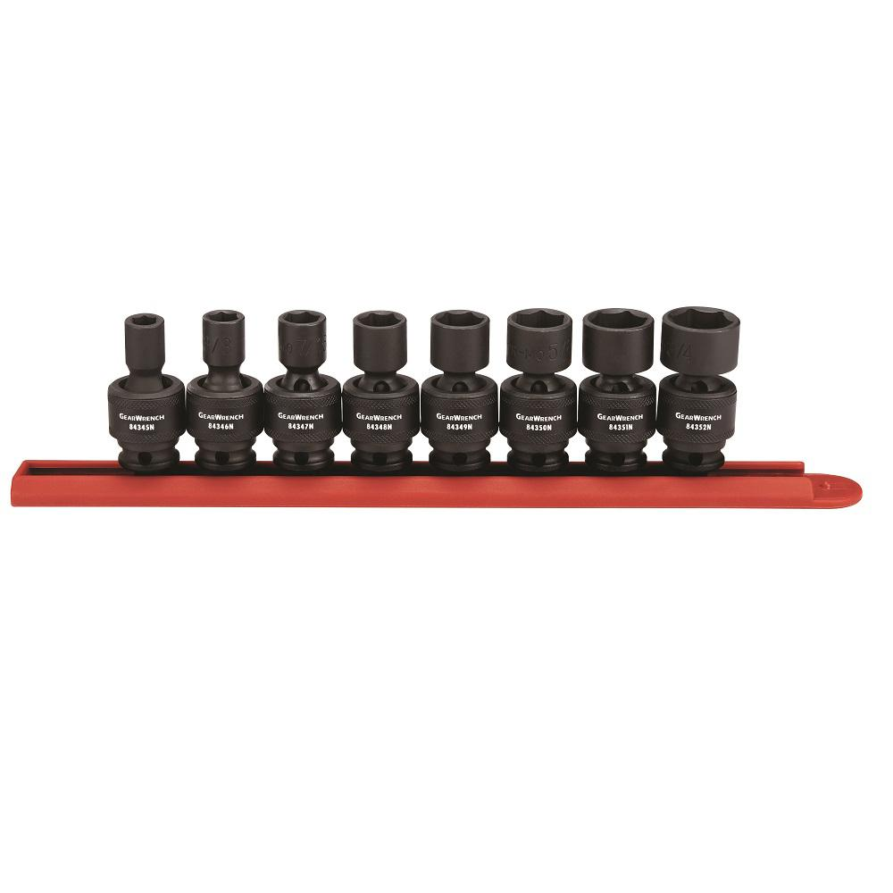 3/8 in. Drive SAE Impact Universal Socket Set (8-Piece)