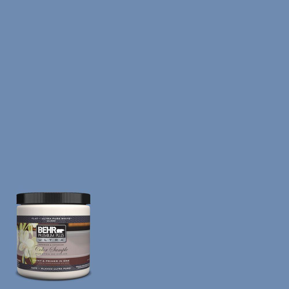 BEHR Premium Plus Ultra 8 oz. #590D-5 Windsurf Blue Interior/Exterior Paint Sample