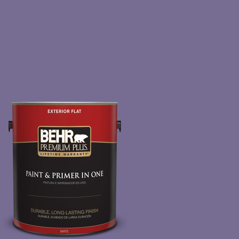 BEHR Premium Plus 1-gal. #650D-6 Purple Silhouette Flat Exterior Paint