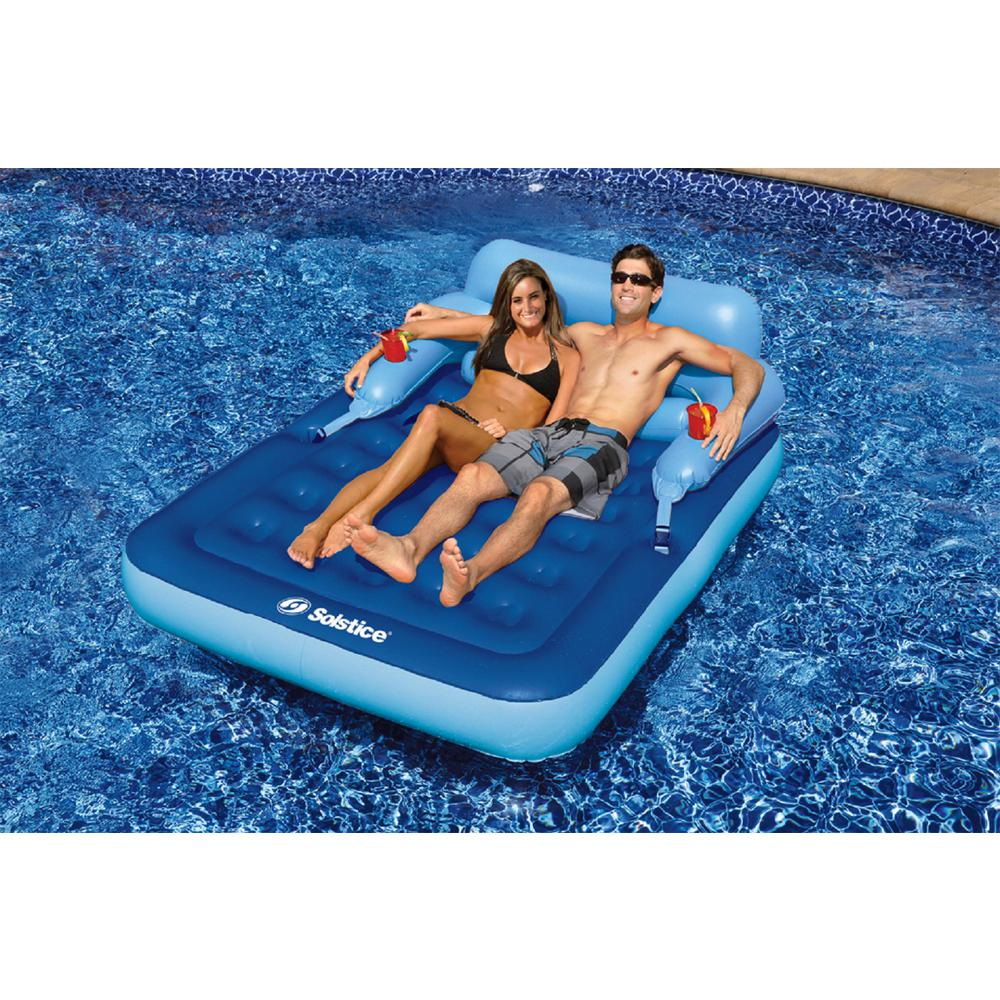 Swimline Malibu Mattress Swimming Pool Float 16152 The Home Depot