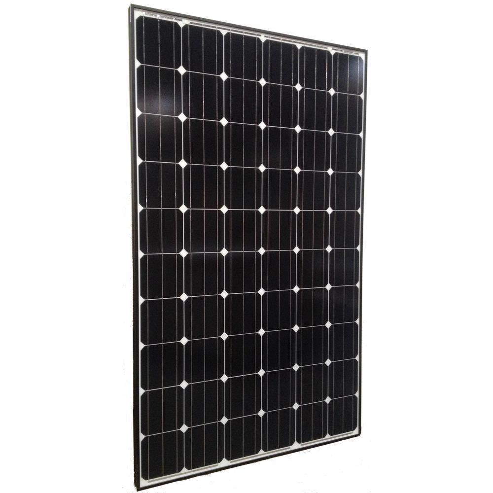 Grape Solar 250-Watt Monocrystalline Solar Panel with Black Frame-DISCONTINUED