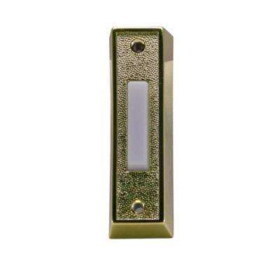 Wired Lighted Door Bell Push Button, Plastic Brass