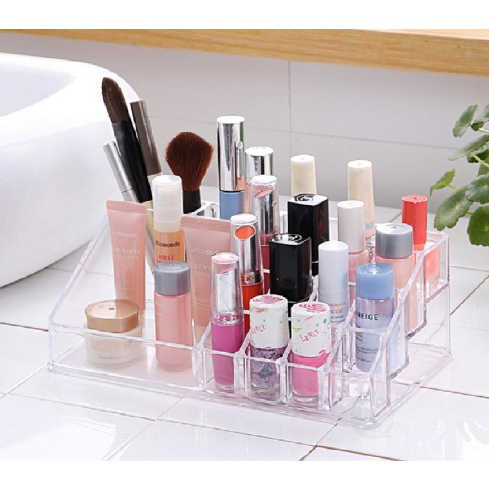 8 in. x 3 in. Acrylic Cosmetic Makeup Storage and Organizer