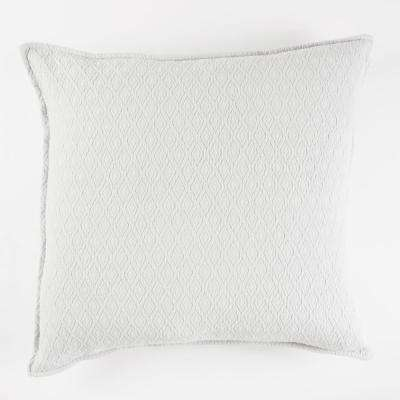 Diamond Textured Matelasse Euro Sham White