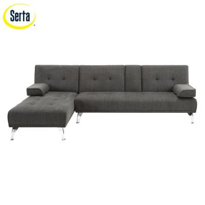 Lifestyle Solutions Marcia 3 Seater Flip Sectional, Charcoal