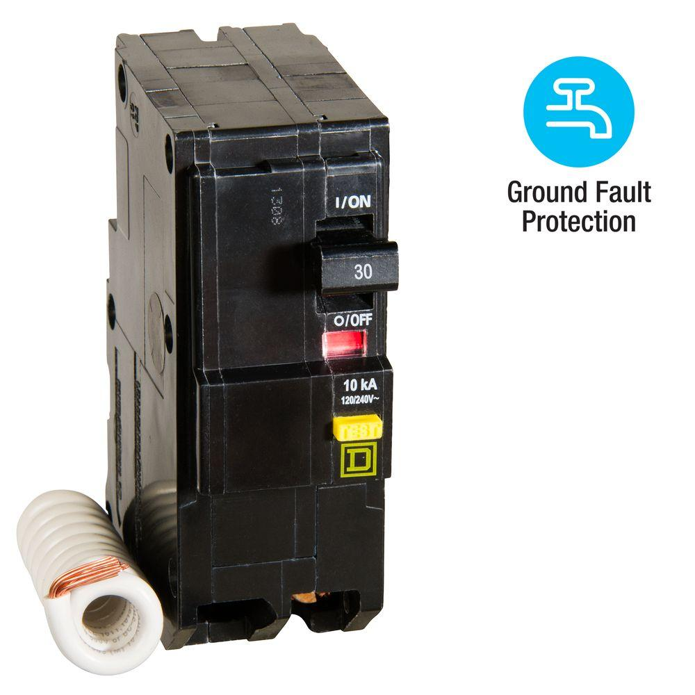Square D QO 30 Amp 2-Pole GFCI Breaker