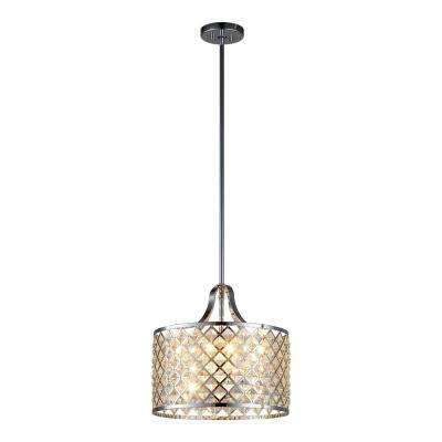 Baker I 4-Light Chrome Pendant