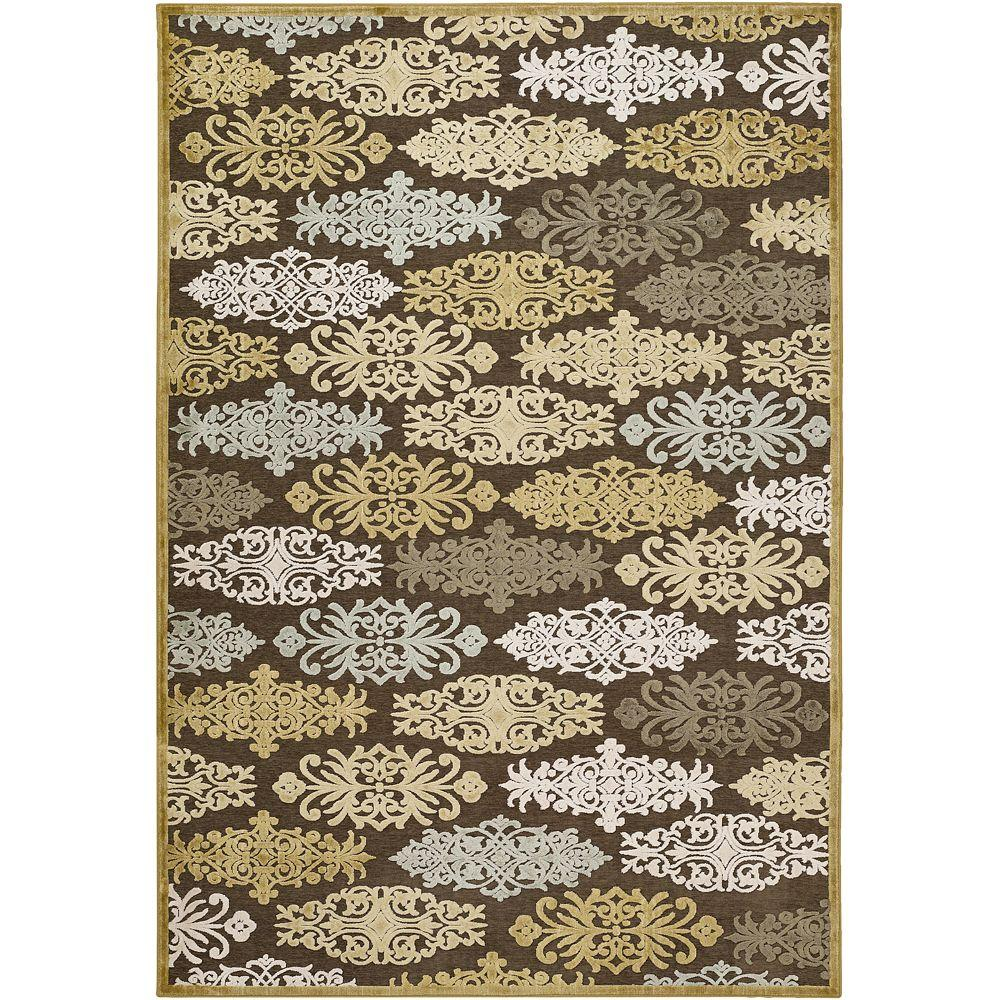 Artistic Weavers Cynthia Gold Viscose and Chenille 4 ft. x 5 ft. 7 in. Area Rug