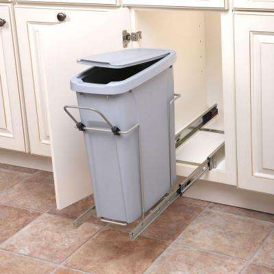 8.375 in. x 17.3125 in. x 20.125 in. In Cabinet Pull Out Single Soft-Close Trash Can