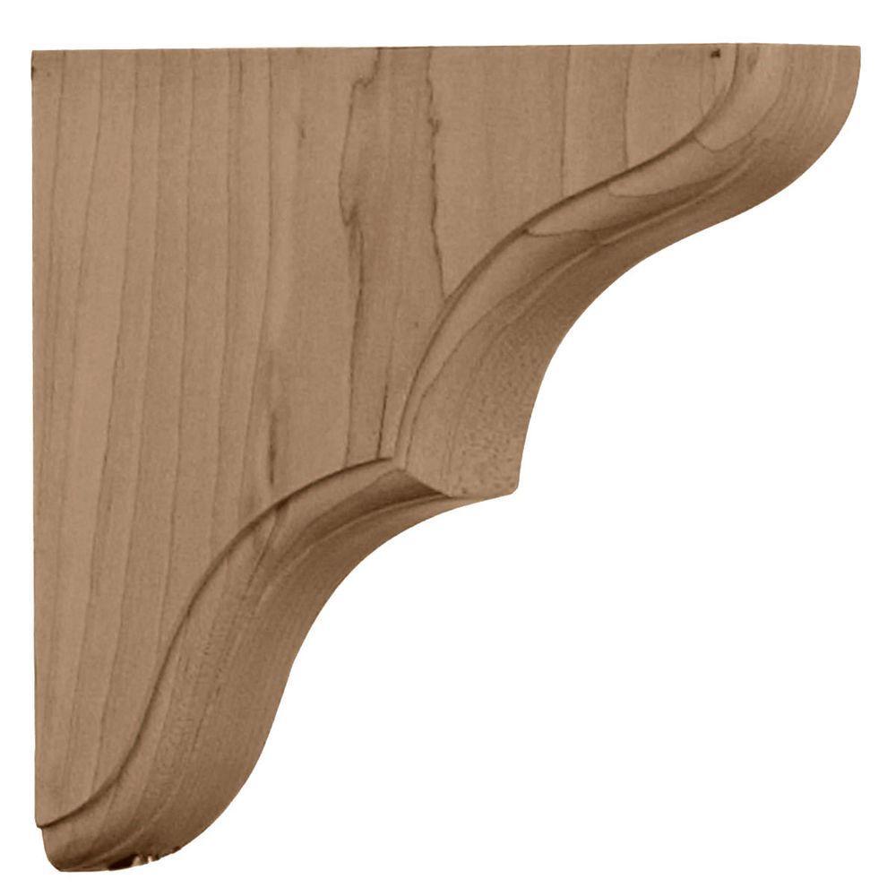 Ekena Millwork 1-3/4 in. x 5-1/2 in. x 5-1/2 in. Unfinished Rubberwood Stratford Wood Corbel