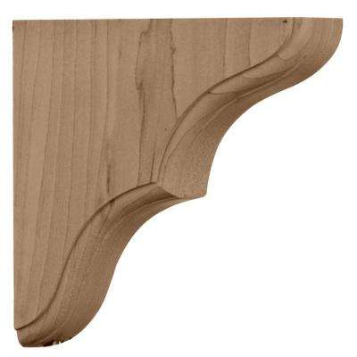 1-3/4 in. x 5-1/2 in. x 5-1/2 in. Unfinished Rubberwood Stratford Wood Corbel