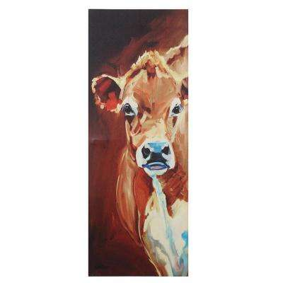 "48 in. H x 17.75 in. W ""One Cow Tall"" Canvas Wall Art"