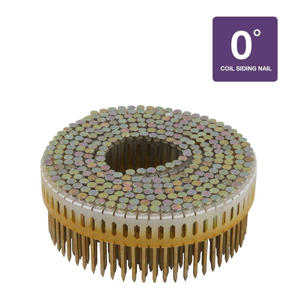 Hitachi 2 in. x 0.099 in. Plastic Smooth Shank Electro Galvanized Collated Coil Nails (9,000-Pack)