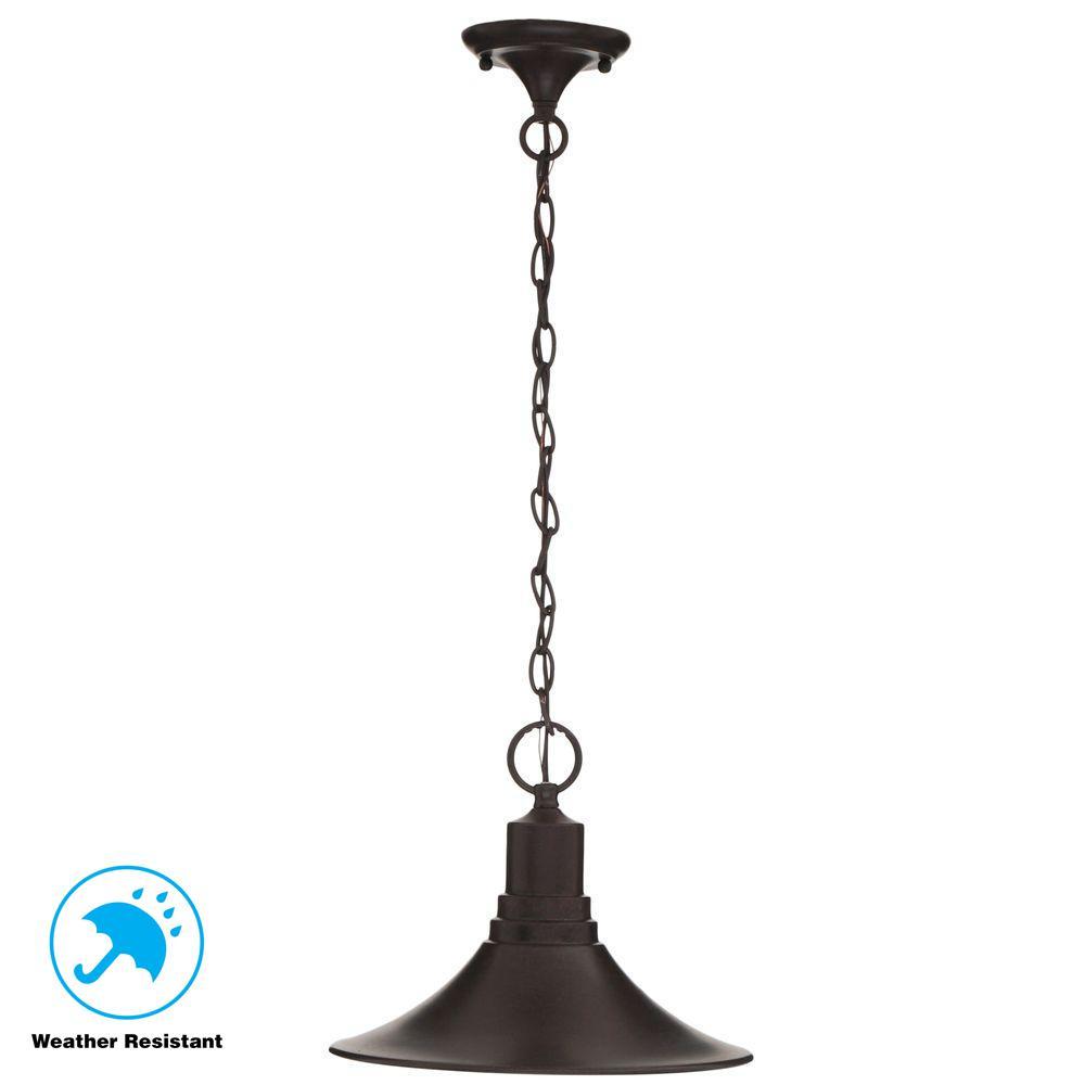 Bronze Outdoor Hanging Pendant Light