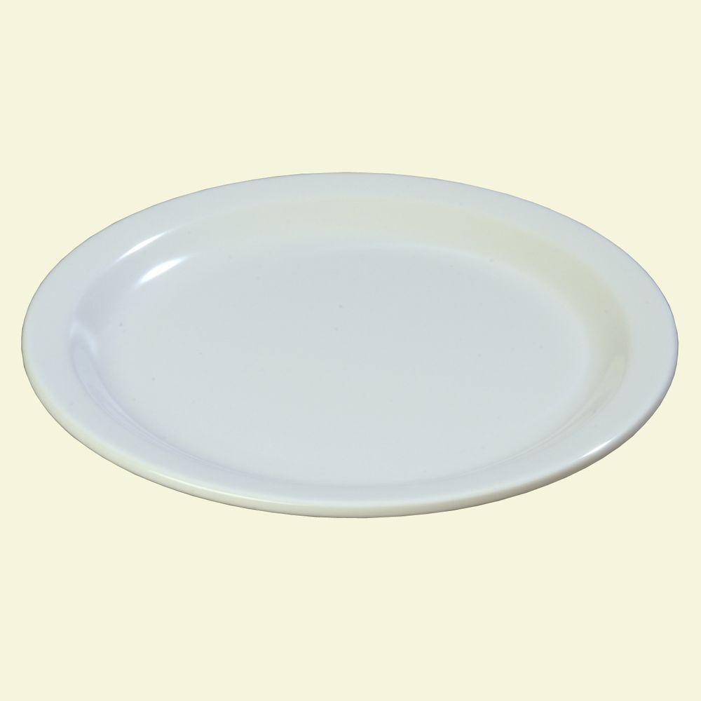 Carlisle 7.25 in. Diameter Melamine Salad Plate in White (Case of