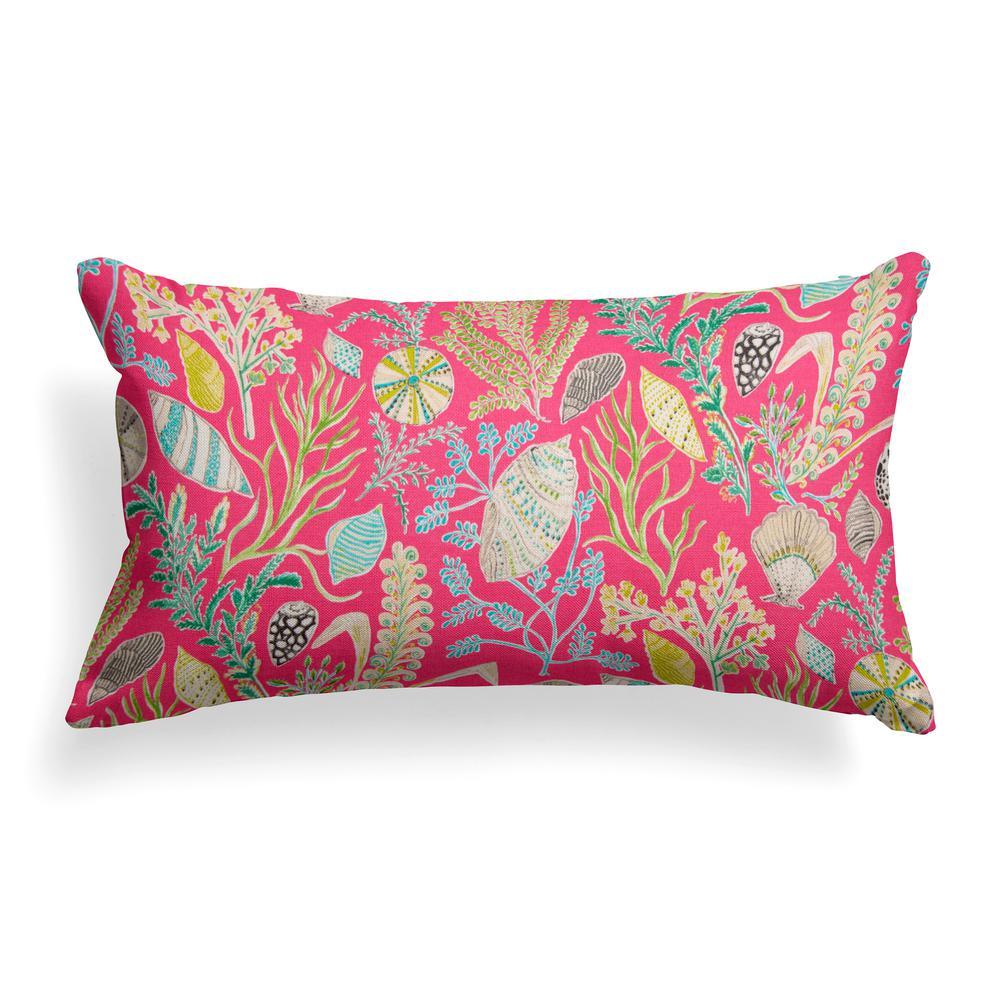Grouchy Goose South Beach Lumbar Outdoor Throw Pillow