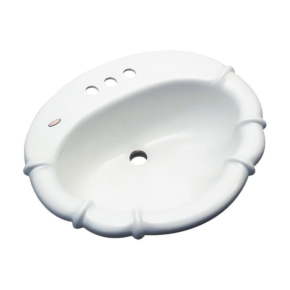 Magnolia Drop-In Bathroom Sink in White