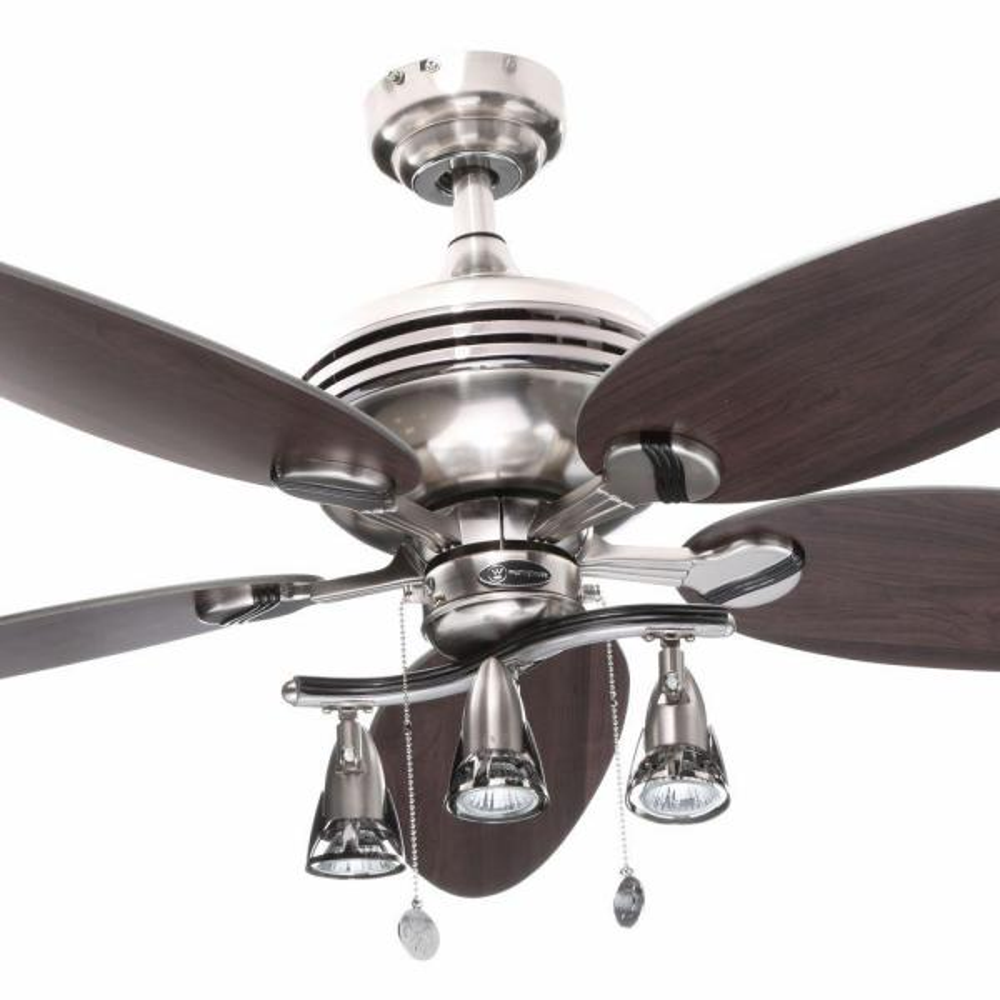 Indoor Brushed Nickel Ceiling Fan
