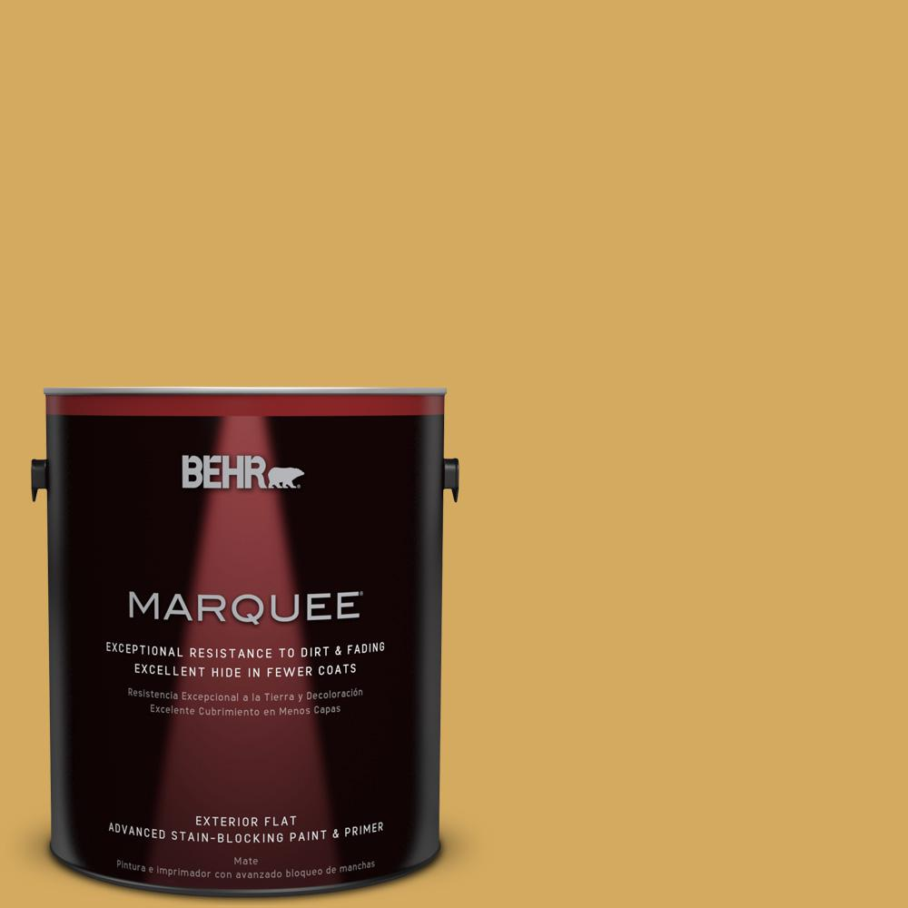 BEHR MARQUEE 1-gal. #350D-5 French Pale Gold Flat Exterior Paint