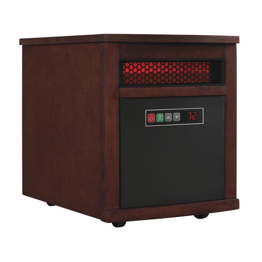 1500-Watt 6-Element Infrared Quartz Electric Portable Heater with Remote Control
