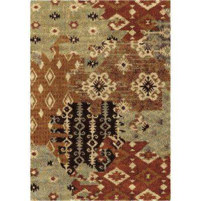 Southwest Patches Multi 8 ft. x 11 ft. Indoor Area Rug