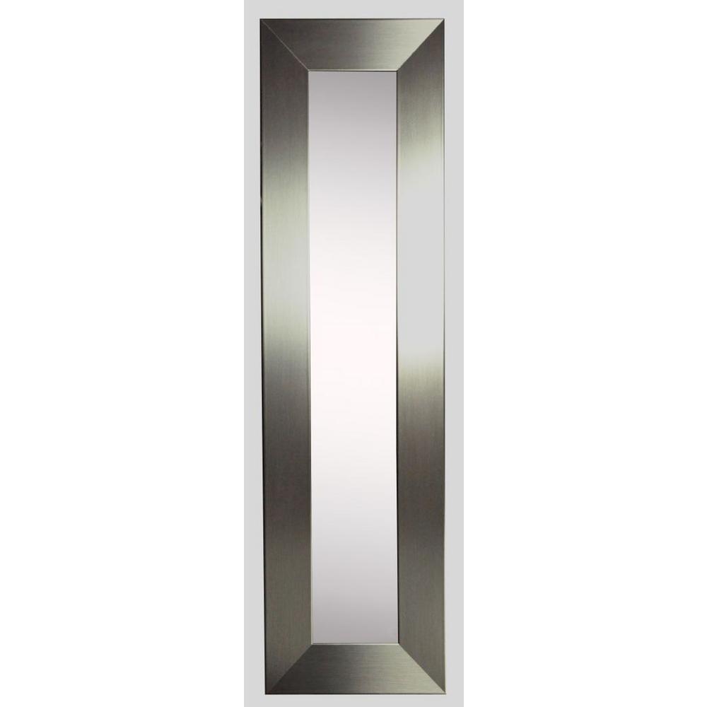 15.5 in. x 39.5 in. Silver Wide Vanity Mirror Single Panel